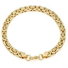Armband 6 mm Königsarmband Echt 999 Gold 24 Karat vergoldet  B1710L