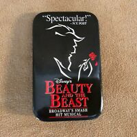 Beauty and the Beast on Broadway Disney button pinback vintage black red