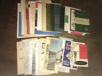 Huge Lot Of Vintage Brochures And Books, Old Maps And More!