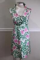 MOULINETTE SOEURS Women's Green/Pink Leaf Floral Print Dress Size 2 (DR900