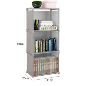 4/5/6 Layer bookshelf easy assembly multicolor durable stainless steel organizer