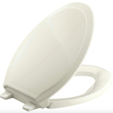 Kohler Toilet Seat Cover Lid Elongated Closed Front Quiet Soft Close Biscuit New