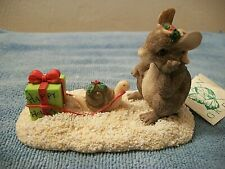 "Silvestri Dean Griff Charming Tails ""Waiting for Xmas"" Mouse Figurine"