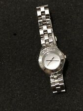 MARC BY MARC JACOBS AMY SILVER DIAL TWO TONE STAINLESS STEEL WATCH MBM 3130