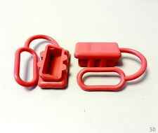 2x ANDERSON PLUG DUST COVER END CAP FOR SB50 50AMP 600V CONNECTOR- RED RUBBER