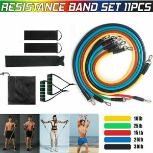 11Pcs Wrokout Resistance Bands Exercise Yoga Crossfit Band Training Fitness Tube