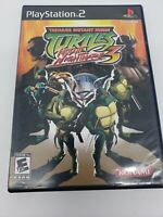 Teenage Mutant Ninja Turtles 3 Mutant Nightmare PlayStation 2 PS2 wManual Tested
