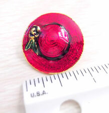 Rose Signed L-S Ships Free w Gift Box Hat or Lapel Pin Red Hat Purple Band &