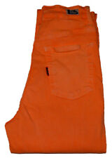 JEANS SLIM FEMME VINTAGE 90's NEUF STRETCH Orange Fluo Neon 5 POCHES 34-36 Fripe