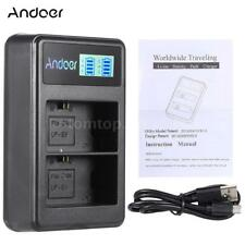 Andoer LP-E6 Rechargeable LED Display Li-ion Battery Charger Pack 2-Slot B4S1