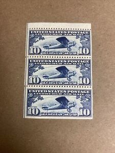 C10A 10 Cent Lindbergh Booklet Pane Of 3. Superb NH