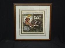 "CI-0106 Yvonne Davis ""The Ribbon Loom"" Limited Edition Print handcolored"