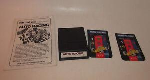 Auto Racing (Intellivision, 1980) WHITE LABEL *RARE* w/ Manual & Both Overlays