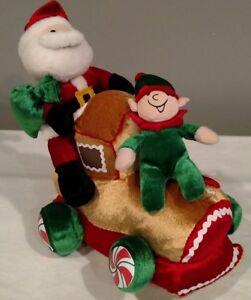 Homerbest Santa Claus & Elf Plush Animated Singing Locomotive Christmas Train