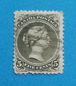 Canada stamp Scott #26 used well centered nice light postmark. Clean stamp.