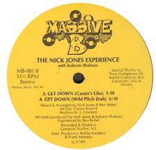 THE NICK JONES EXPERIENCE - Wake Up People / Get Down 1991 Massive B MB-001 Usos