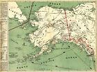 1897+Alaska+Klondyke+Map+Gold+Mining+Fields+Mines+Yukon+Klondike+Wall+Art+Poster