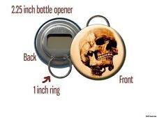 Steampunk Gothic Skeleton Skull Bottle Opener / Keychain