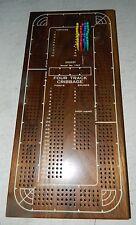 Drueke Model No 1962 Cribbage Board, Large Four Track