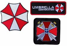 """Resident Evil Umbrella Corporation Costume [Set of 3] Patch sizes 3""""- 4"""" GREAT!"""