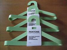 DANISH MODERN PANTONE UNIVERSE STUDIO HANGERS SET/3 BUTTERFLY GREEN PLASTIC NWT