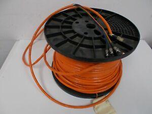 300ft  213M 4 Fiber Optic Cable OFNR 62.5/125 µm FDDI Multimode w/ ST Connectors