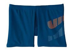 Nike Kinder Badehose Nike Logo Square Leg Sim Boxer blau rot