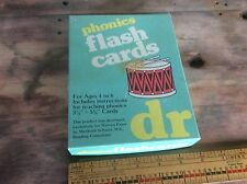 Vintage Phonic Flash Cards , Collectible Teaching Aide