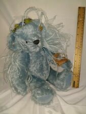 "Annette Funicello 13"" Birdie Blue Mohair Teddy Bear Jointed plush teddy bear"