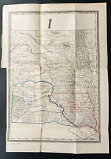 1885 - MAP Indian Reservation CROW CREEK DAKOTA - Carte réserves Sioux ...