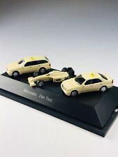 Herpa 1/87 HO Mercedes Das Taxi 3 Car Promo Set w/ F1 Taxi