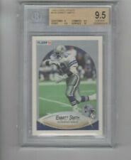 1990 Fleer Update Emmitt Smith Rookie Card BGS 9.5 GEM MINT Cowboys RB w/ 10 sub