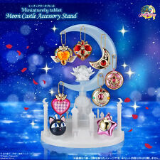 RARE Sailor Moon Miniaturely Tablet Moon Castle Accessory Stand with Star Locket