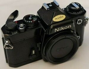 Lovely black Nikon FE 35mm film camera body