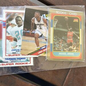 1986 Fleer Michael Jordan #57 Rookie Card Plus Larry Johnson rookie !