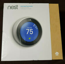 Nest 3rd Generation Stainless Steel Thermostat (BRAND NEW SEALED) WiFi T3007ES
