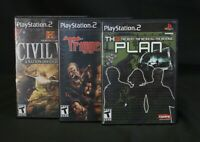 Lot Of 3 PlayStation 2 (PS2) Games: The Plan, Trigger Man, Civil War- Fast Ship