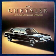 Prospekt brochure 1984 Chrysler Executive Sedan and Limousine (USA)
