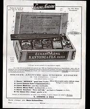 """PARIS (XIX°) USINE d'ENCRES ANTOINE """"N. ANTOINE & Fils"""" Tract période 1910-1920"""
