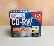 Memorex CD-RW 10 Pack 4X 700MB 80 Min Compact Discs Rewritable Brand New SEALED