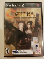 Contra: Shattered Soldier US (Sony PlayStation 2, PS2 2002) - TESTED NO MANUAL