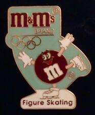 Figure Skating Olympic Pin Badge~Albertville Winter Games~1992~Sponsor~M&M Mars