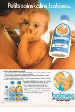 PUBLICITE ADVERTISING  1981   BABIVEA   lait de toilette bébé