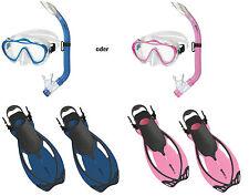 Mares Sharky Schnorchelset für Kinder mit Allegra Flossen verstellbar Blau Pink