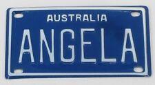 ANGELA NOVELTY NAME MINI TIN AUSTRALIAN LICENSE NUMBER PLATE