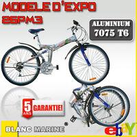Vélo pliant 26PM3 expo Blanc Marine, vtt pliant, garantie 5 ans