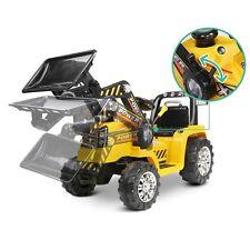 RIGO Kid's Electric Ride On Bulldozer - Yellow