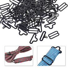 50 Sets Bow Tie Necktie Hardware Cravat Fastener Hook Slide Eye Clips Adjuster