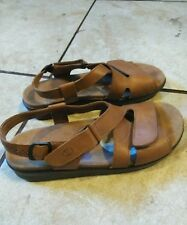 SAS Tripad Comfort Huggy Womens Caramel Brown Leather Ankle Strap Sandals US 9.5