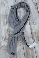 Calvin Klein NEW Women's Silky Scarf Silver Gray Black